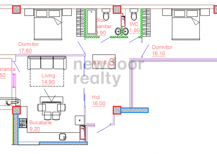Apartments - 3 rooms